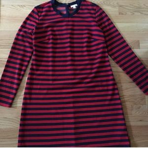 Gap Maternity Dress, red and navy striped, sz Med